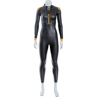 Combinaison Intégrale DEBOER OCEAN 1.0 Femme Manches Longues Noir/Orange 2021